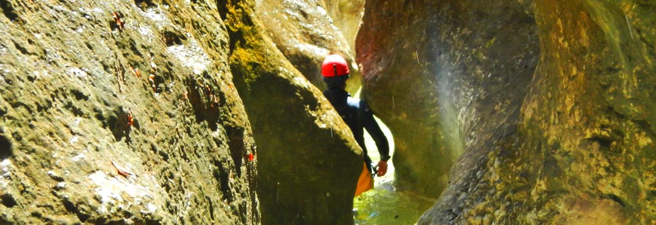 Formulaire de contact et réservation d'activité canyoning, aventure et via ferrata en Sierra de Guara (Espagne)