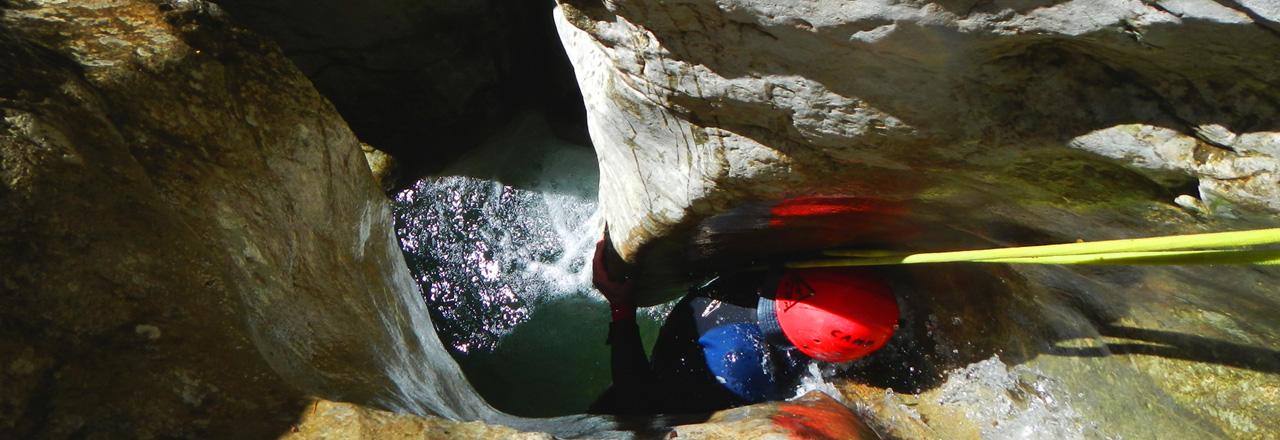 canyoning expert et technique pour sportifs en Sierra de Guara