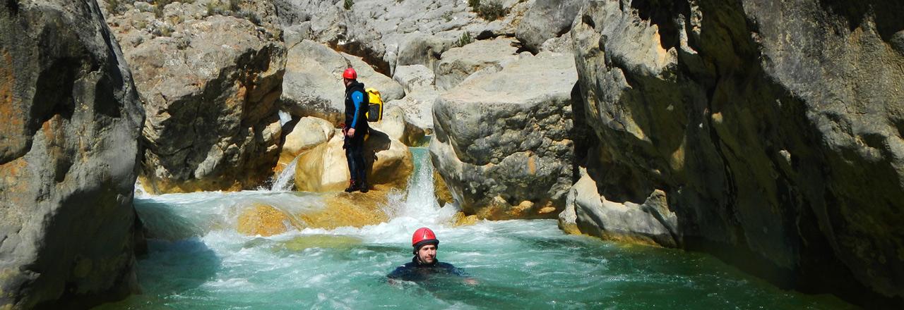 Aventura barranquismo Sierra de Guara
