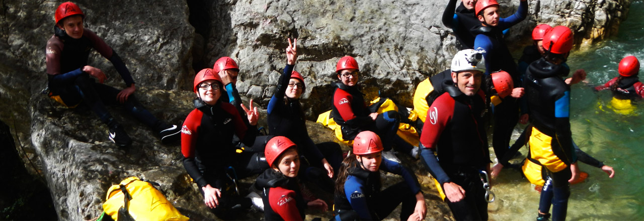canyoning with childrens in Spain