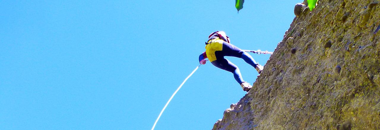 Rapel en Sierra de Guara, Huesca, con Expediciones-sc.es
