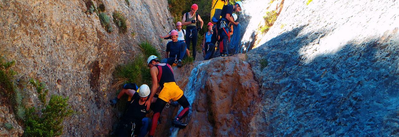 Barranquismo teambuiding: Seminario de aventura en Sierra de Guara-Aragon