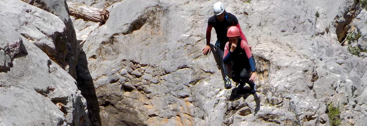 Week of canyoning in Sierra de Guara Spain