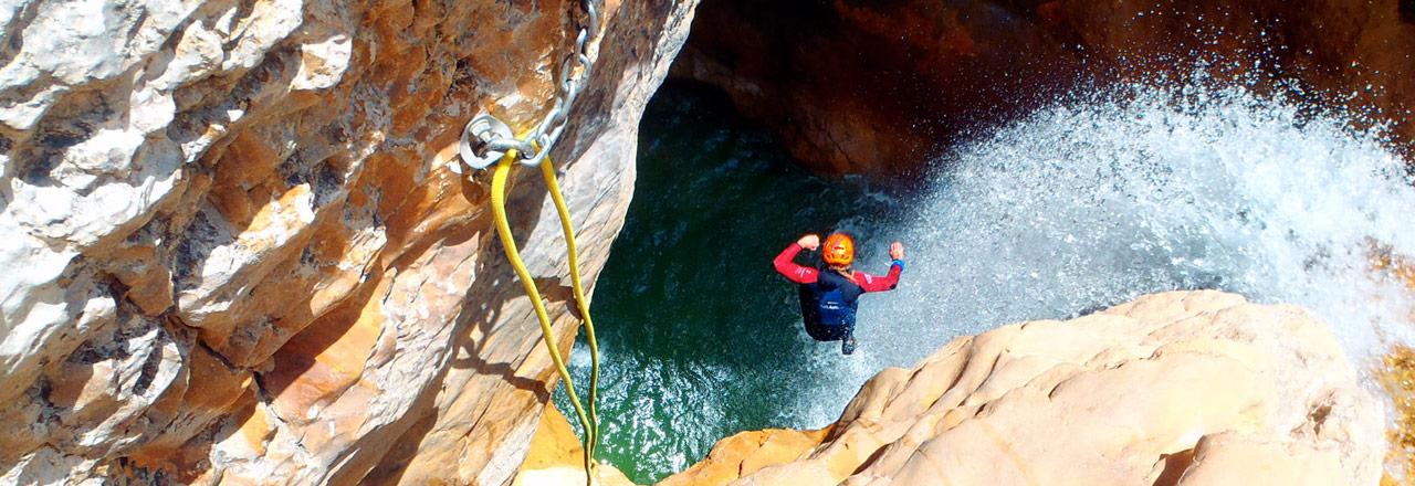 Gorgas Negras- canyoning expert Sierra de Guara Expediciones-sc.es