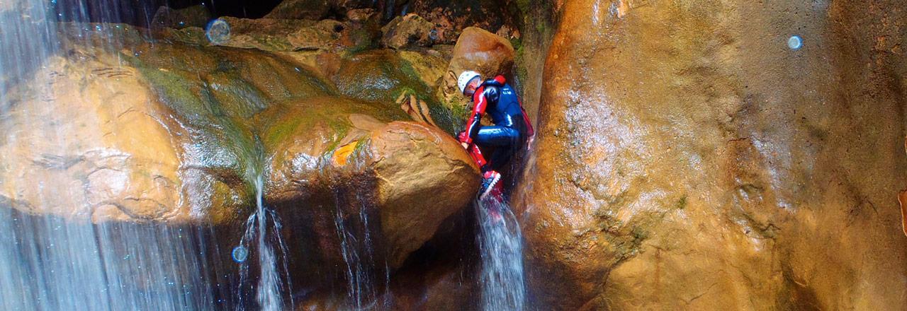 Superior canyon Sierra de Guara