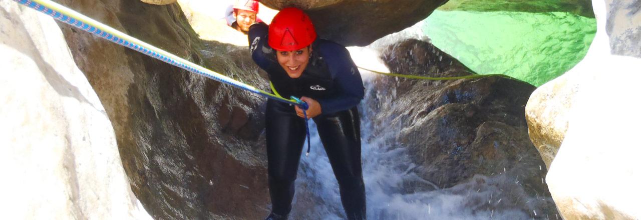 Multi adventure with canyoning & via ferrata in Sierra de Guara