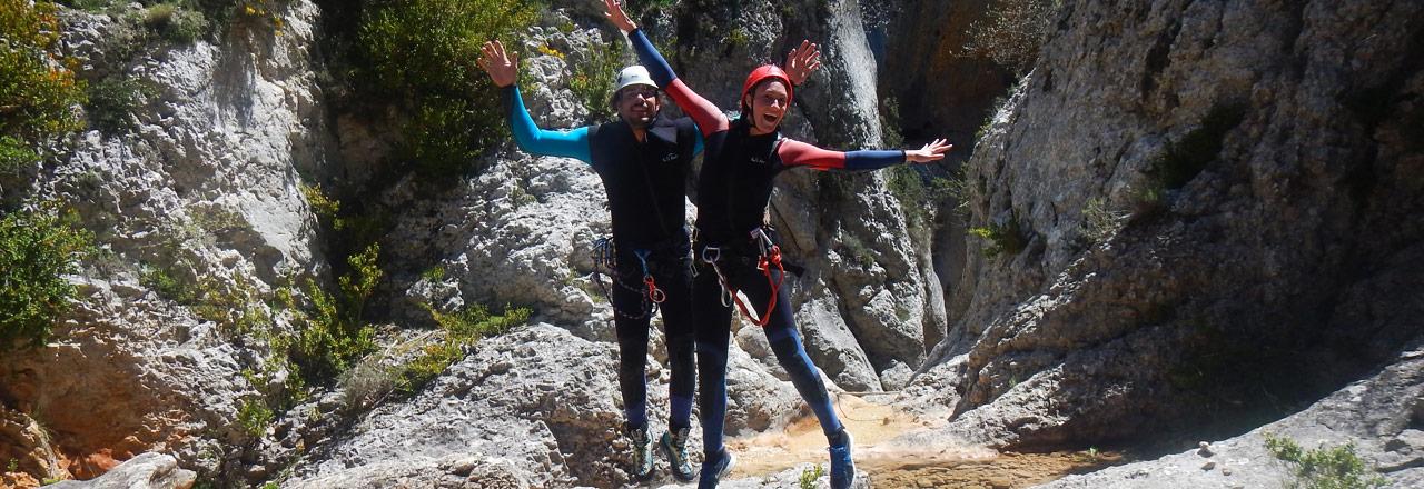 Barranquismo y buen humor en Sierra de Guara (Huesca)
