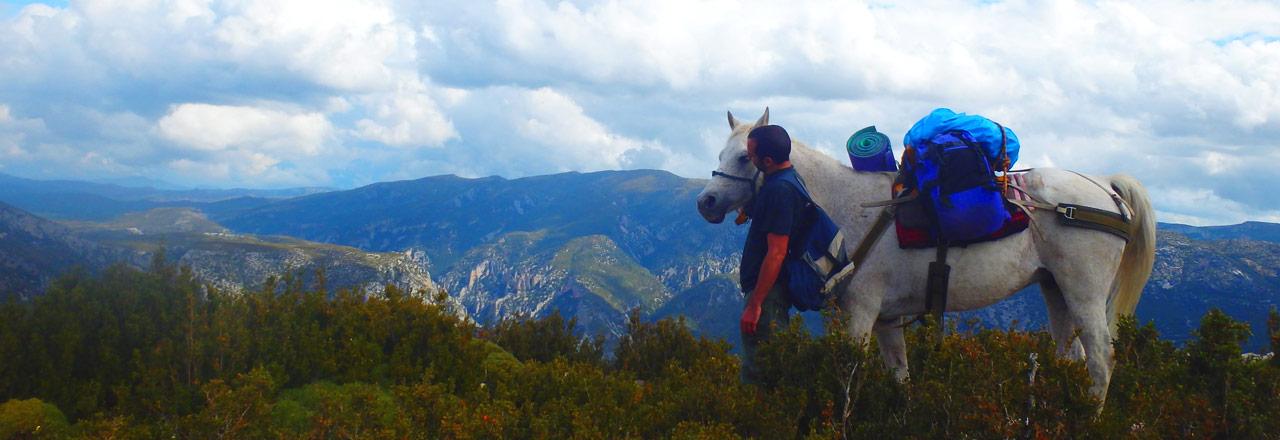 Randonnée à cheval en Espagne (Sierra de Guara)