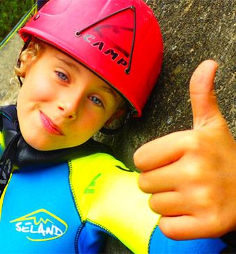 Barranquismo para familias y niños en Sierra de Guara