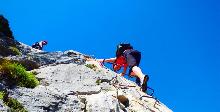 Multi adventure with canyoning and Via ferrata in Sierra de Guara in Spain with Expediciones-sc.es