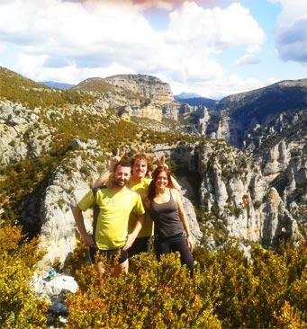 séjours randonnée et marche en SIerra de Guara et Pyrénées en Espagne