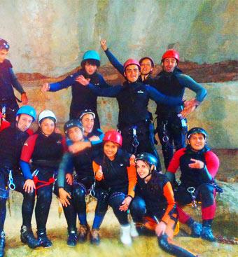Practicas y entrenos para equipos y clubes deportivos en Sierra de Guara, Huesca, Aragon