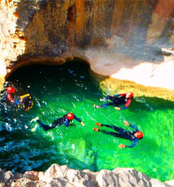 Week-end canyoning ou 2 journées de descente de canyon en Sierra de Guara