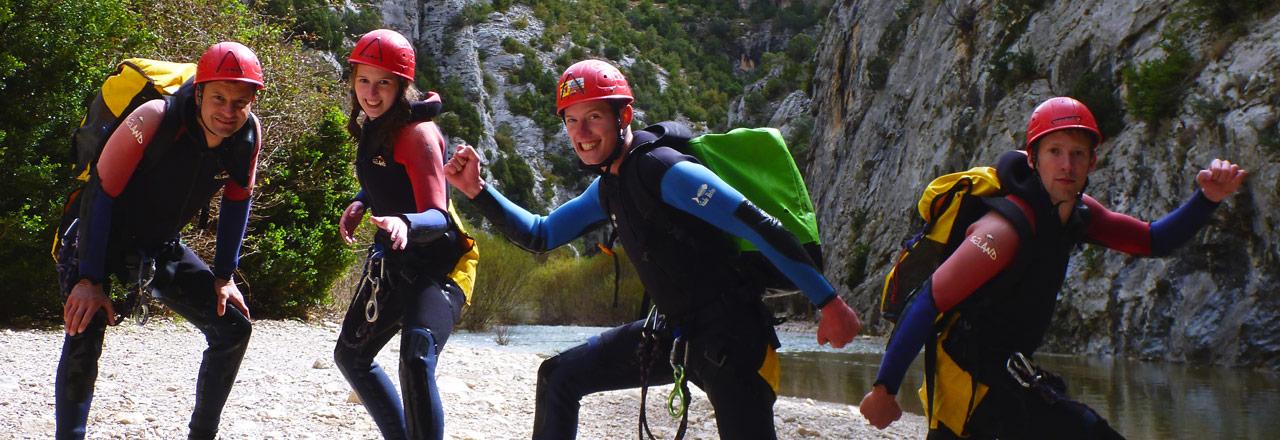 Semana de barranquismo en SIerra de Guara con 5 descensos de los mejores barrancos de Españal