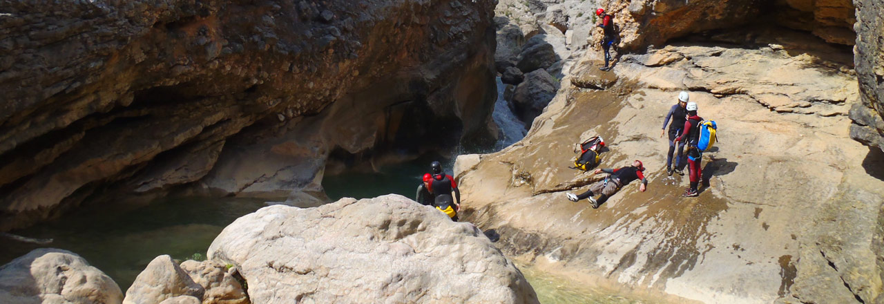 Canyoning with bivouac in Spain