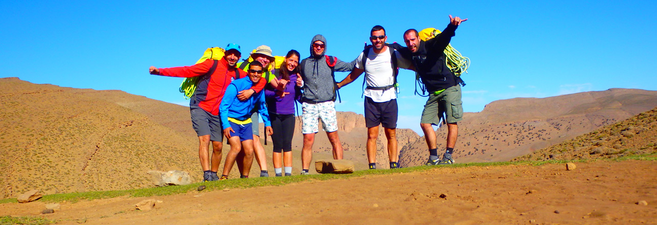 canyoning trip in Morocco