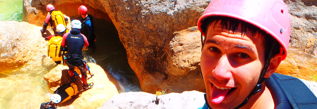 Multi avdenture pack withh canyoning and ferrata in Sierra de Guara Spain