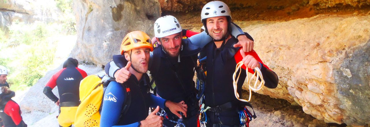 Expert canyoning day in Sierra de Guara Spain