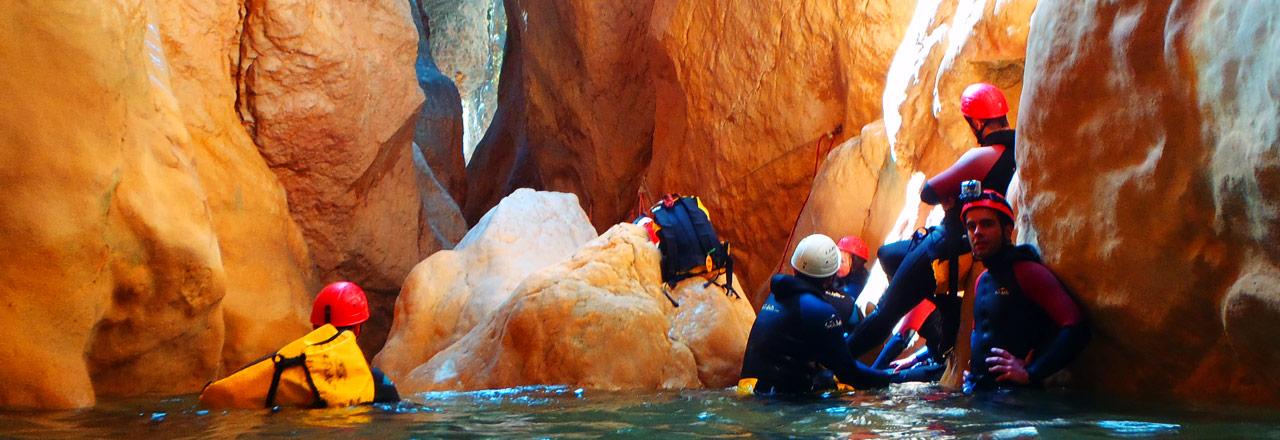 Journée de descente de canyon en Sierra de Guara
