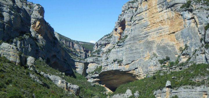 Barranco chimiachas cerca de Alquezar: Cuenca del Rio Vero