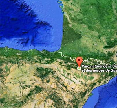 El tiempo y como llegar en Sierra de Guara - Huesca - Aragon