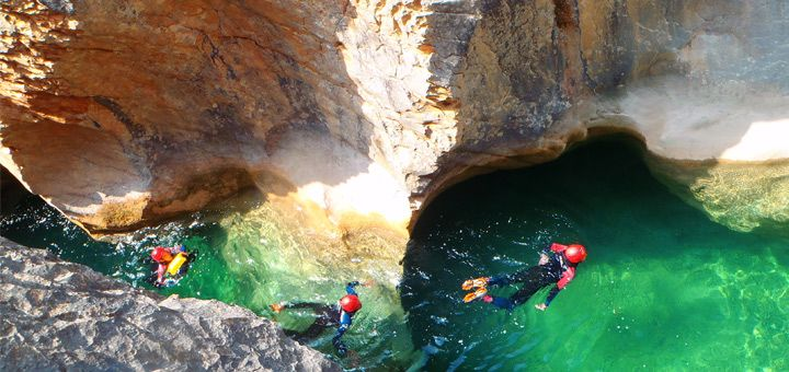 Week-end of canyoning in Sierra de Guara