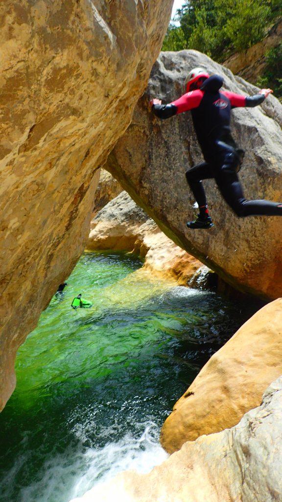 Saut dans le canyon du Gorgas Negras