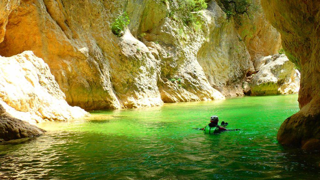 Vasques durant le canyoning du Gorgas Negras